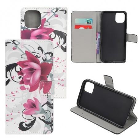 iPhone 12 / 12 pro violetit kukat suojakotelo