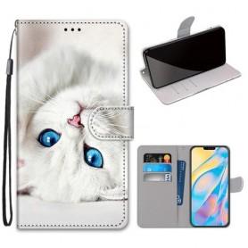 iPhone 12 / 12 pro valkoinen kissa suojakotelo