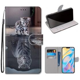 iPhone 12 / 12 pro kissa heijastus suojakotelo
