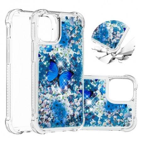 iPhone 12 / 12 Pro glitter hile perhoset suojakuori