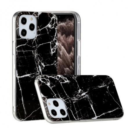 iPhone 12 / 12 Pro musta marmori suojakuori