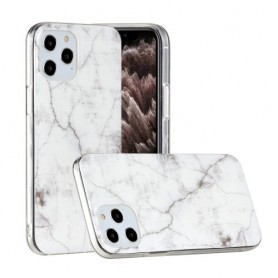 iPhone 12 / 12 Pro valkoinen marmori suojakuori