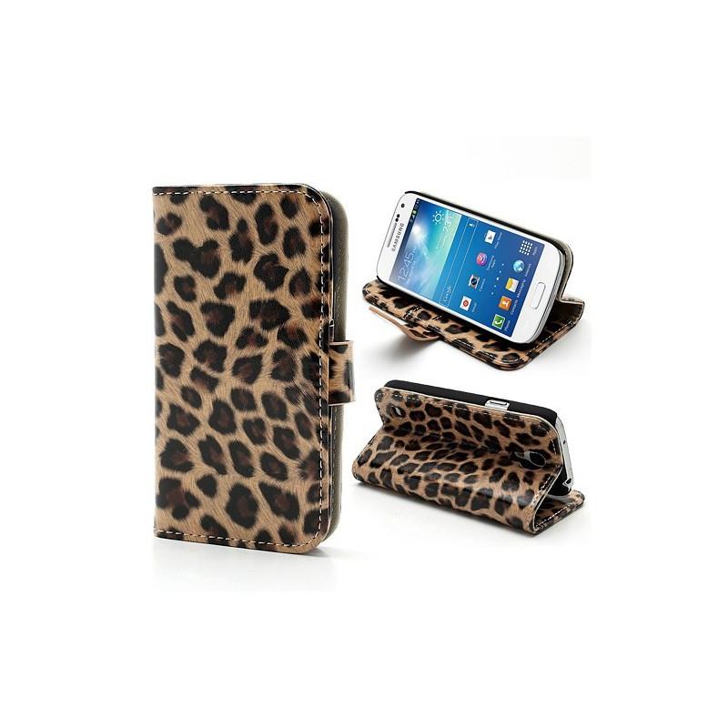 Galaxy S4 Mini leopardi puhelinlompakko