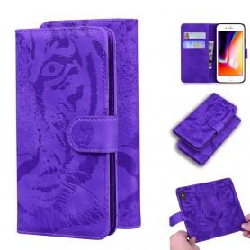 iPhone 7/8/SE 2020 violetti tiikeri suojakotelo
