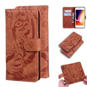 iPhone 7/8/SE 2020 ruskea tiikeri suojakotelo