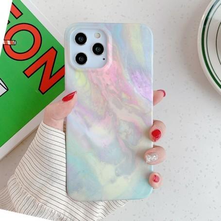 iPhone 12 / 12 Pro värikäs tie-dye suojakuori
