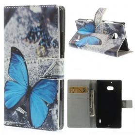 Lumia 930 sininen perhonen puhelinlompakko