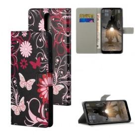 Nokia 2.4 kukkia ja perhosia suojakotelo