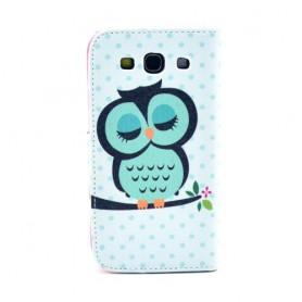 Galaxy S3 vihreä pöllö lompakkokotelo