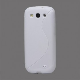 Galaxy S3 valkoinen silikoni suojakuori.
