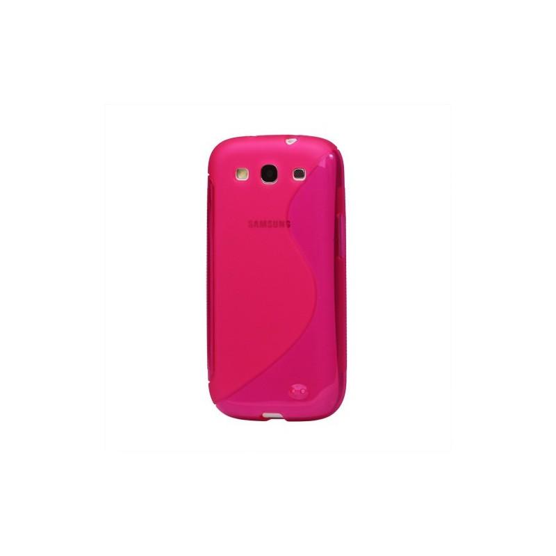 Galaxy S3 pinkki silikoni suojakuori.