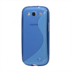 Galaxy S3 sininen silikoni suojakuori.