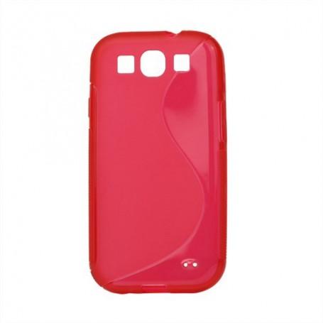 Galaxy S3 punainen silikoni suojakuori.