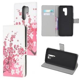Xiaomi Redmi 9 vaaleanpunaiset kukat suojakotelo