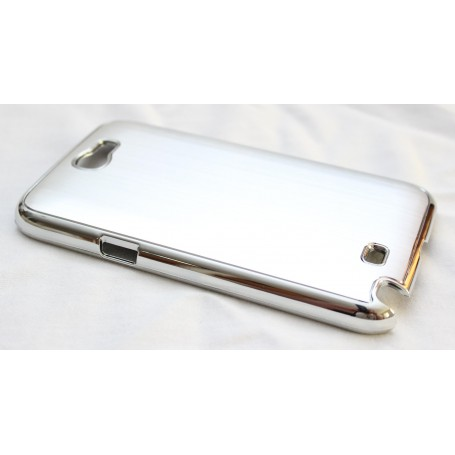 Galaxy Note 2 hopeinen alumiini takakansi.