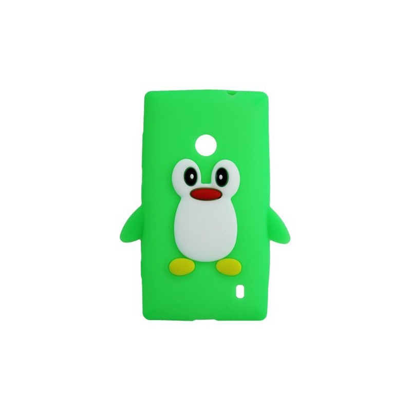 Lumia 520 vihreä pingviini silikonisuojus.