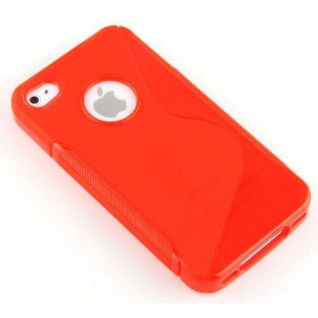 Punainen iPhone 4/4s suojakuori.