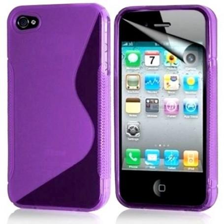 iPhone 4/4s violetti suojakuori