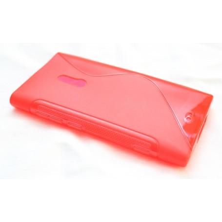 Lumia 800 punainen silikoni suojakuori.