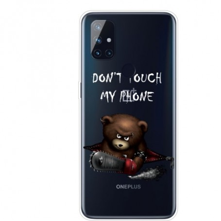 OnePlus Nord N10 5G vihainen nalle suojakuori