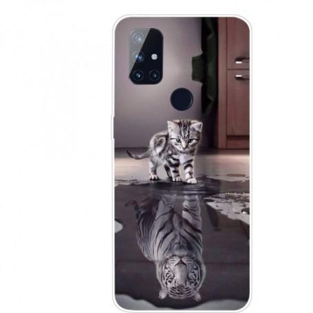 OnePlus Nord N10 5G kissa ja tiikeri suojakuori