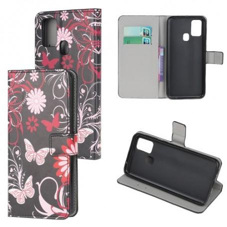 OnePlus Nord N10 5G kukkia ja perhosia suojakotelo