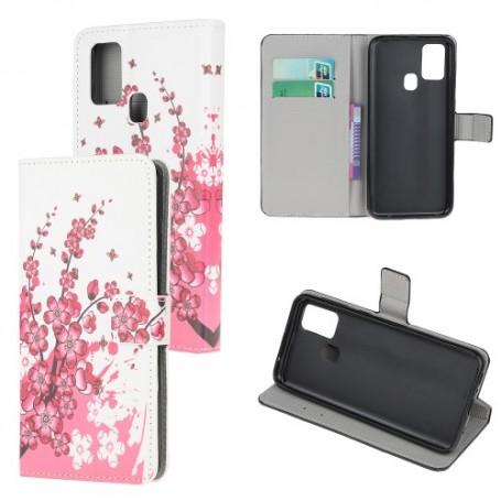 OnePlus Nord N10 5G vaaleanpunaiset kukat suojakotelo