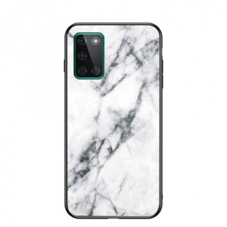 OnePlus 8T valkoinen marmori suojakuori