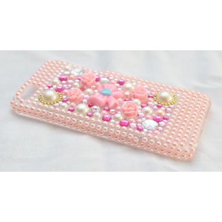 iPhone 5 vaaleanpunainen timanttisuojakuori.