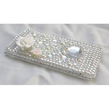 iPhone 5 hopeinen timanttisuojakuori.
