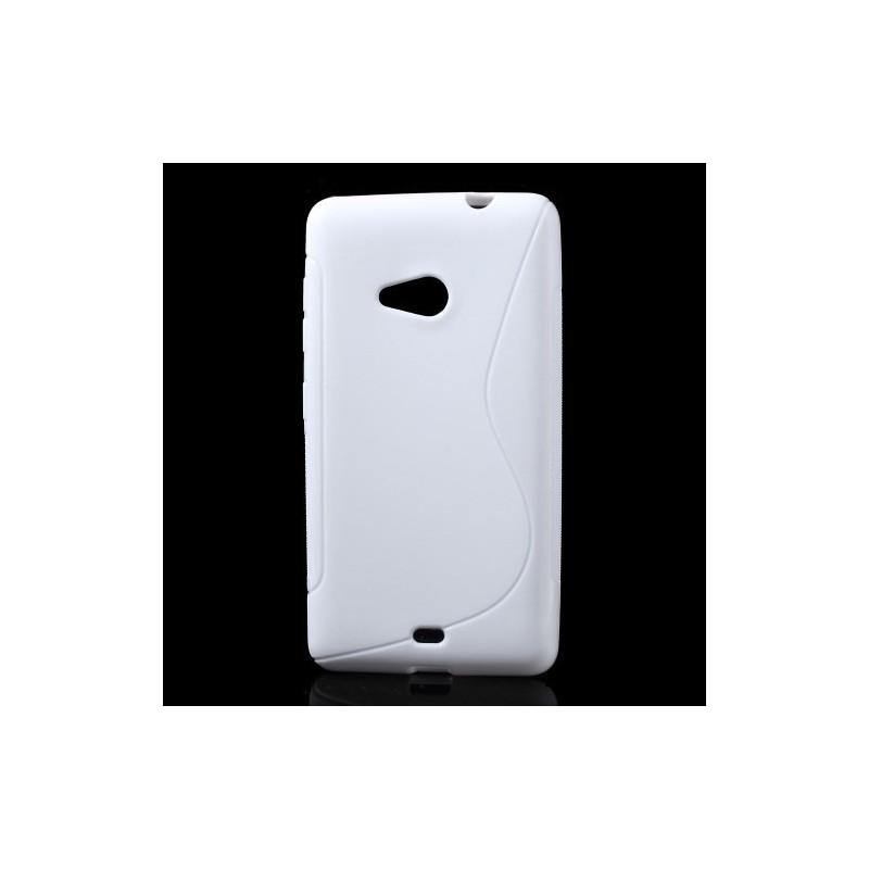 Lumia 535 valkoinen silikonikuori.