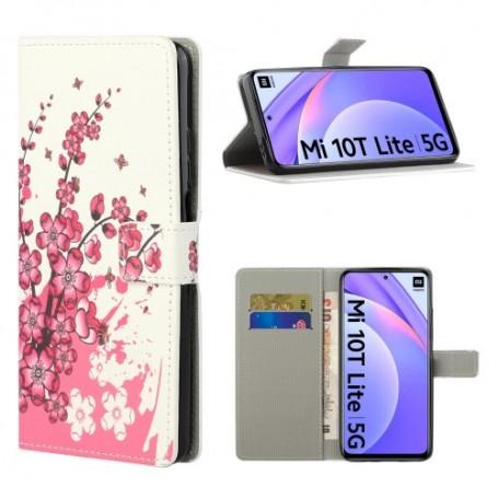 Xiaomi Mi 10T Lite 5G vaaleanpunaiset kukat suojakotelo