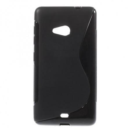 Lumia 535 musta silikonikuori.