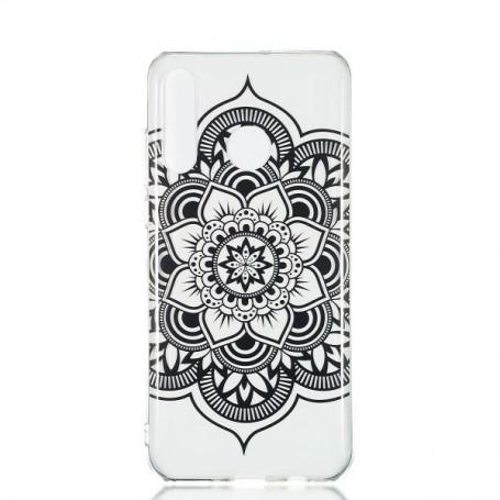 Huawei P30 Lite läpinäkyvä mandala suojakuori.