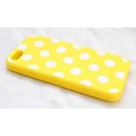 iPhone 5 keltainen polka dosts suojakuori.