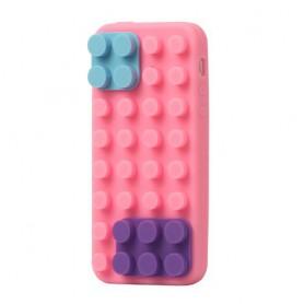 iPhone 5 pinkki rakennuspalikat silikonisuojus.