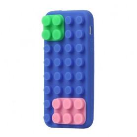 iPhone 5 sininen rakennuspalikat silikonisuojus.