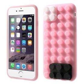 iPhone 6 pinkki rakennuspalikat silikonisuojus.