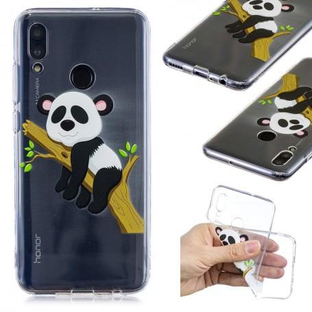 Huawei P Smart 2019 läpinäkyvä panda suojakuori