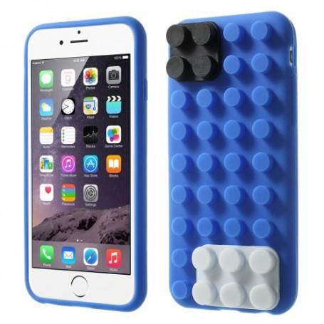 iPhone 6 sininen rakennuspalikat silikonisuojus.