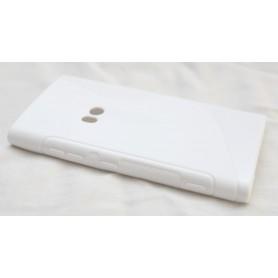 Lumia 920 valkoinen silikoni suojakuori.