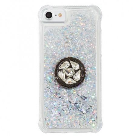 iPhone 7/8/SE 2020 hopea glitter hile sormuspidike suojakuori