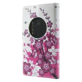 Lumia 1020 vaaleanpunaiset kukat puhelinlompakko