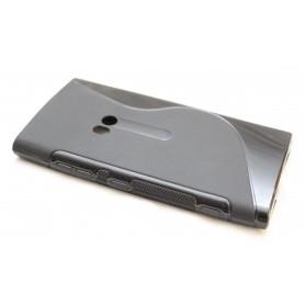 Lumia 920 musta silikoni suojakuori.
