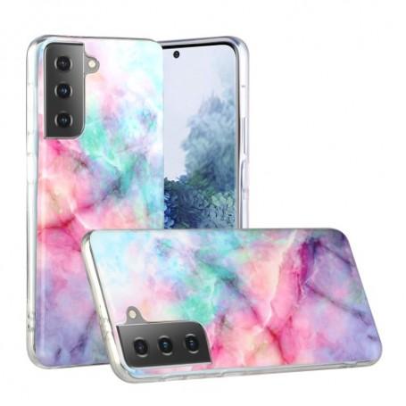 Samsung Galaxy S21 Plus värikäs tie-dye marmori suojakuori