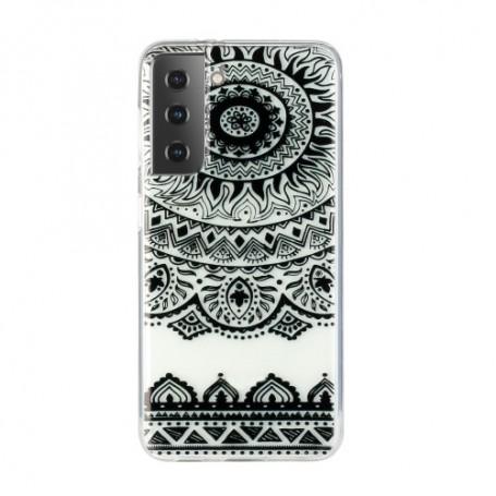 Samsung Galaxy S21 Plus läpinäkyvä mandala suojakuori