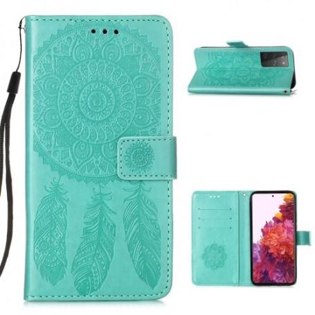 Samsung Galaxy S21 Ultra mintunvihreä unisieppari suojakotelo