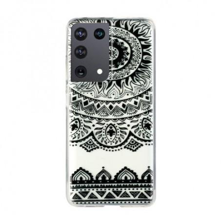 Samsung Galaxy S21 Ultra läpinäkyvä mandala suojakuori