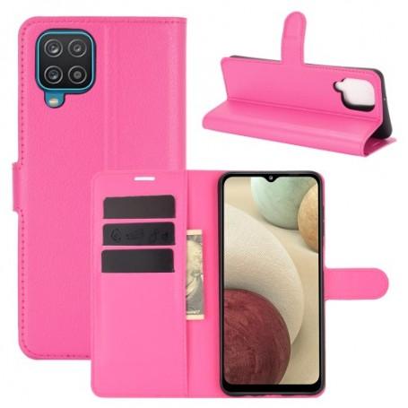 Samsung Galaxy A12 pinkki suojakotelo