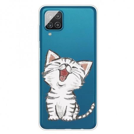 Samsung Galaxy A12 läpinäkyvä kissa suojakuori